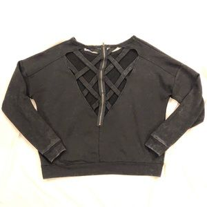Strappy back sweatshirt